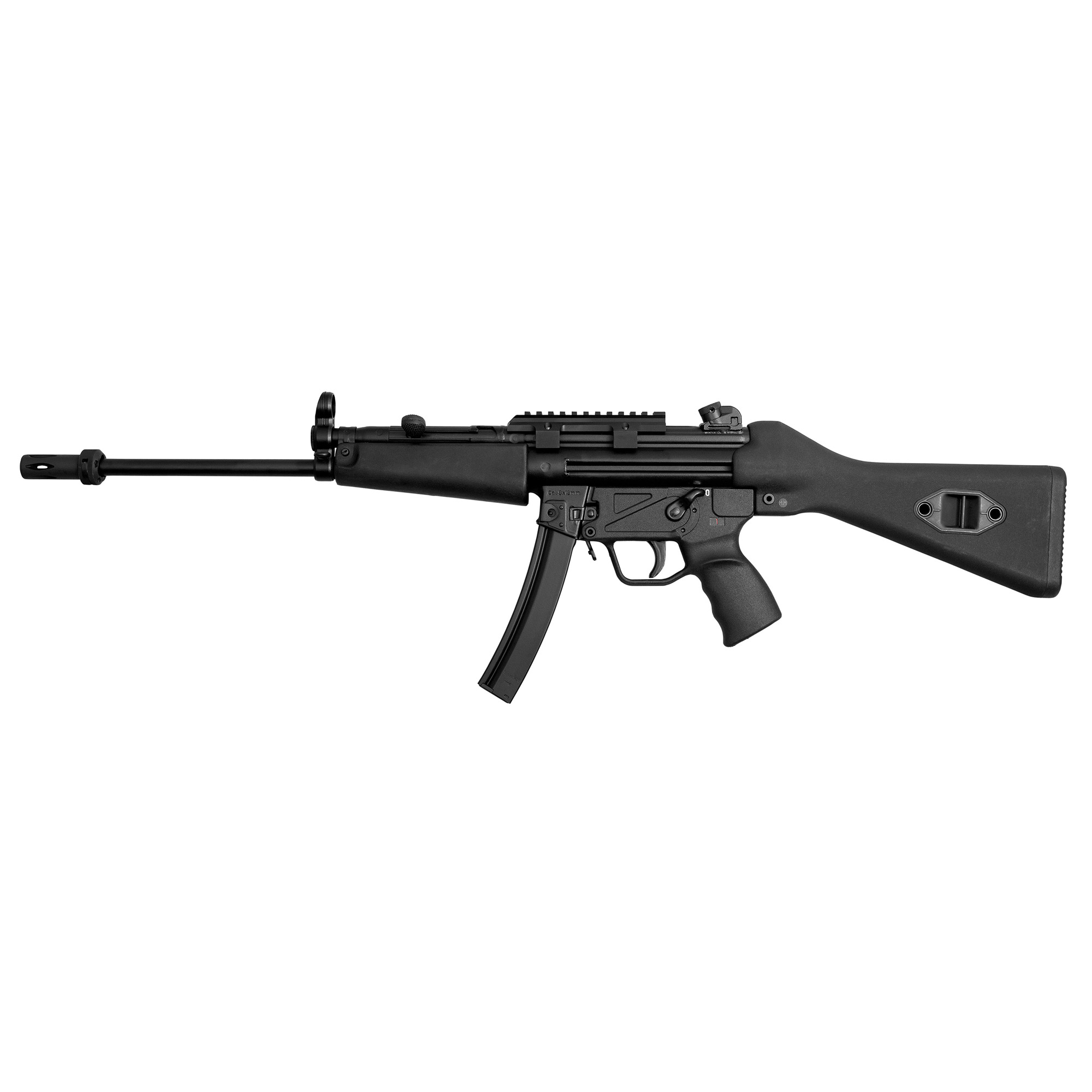 """The Z-5 Rifle is a longer-barreled version of Zenith's Z-5RS"""" configured as a non-sporterized carbine. It is a good option for those who would like to own a Z-5RS SBR"""" but are not willing to incur the expense or hassle of registration. Equipped with a 3-lug-mounted flash hider"""" a tropical wide forearm"""" and an A2 fixed stock"""" it is covered by a five-year warranty and is fully 922(r) compliant.* It ships in an MKE hard case with a Picatinny optic rail"""" three magazines"""" a military-style sling"""" two extra takedown pins"""" a cleaning kit"""" and a user manual. *U.S.-made parts include: flash hider"""" charging handle"""" handguard"""" stock"""" hammer"""" trigger and sear."""