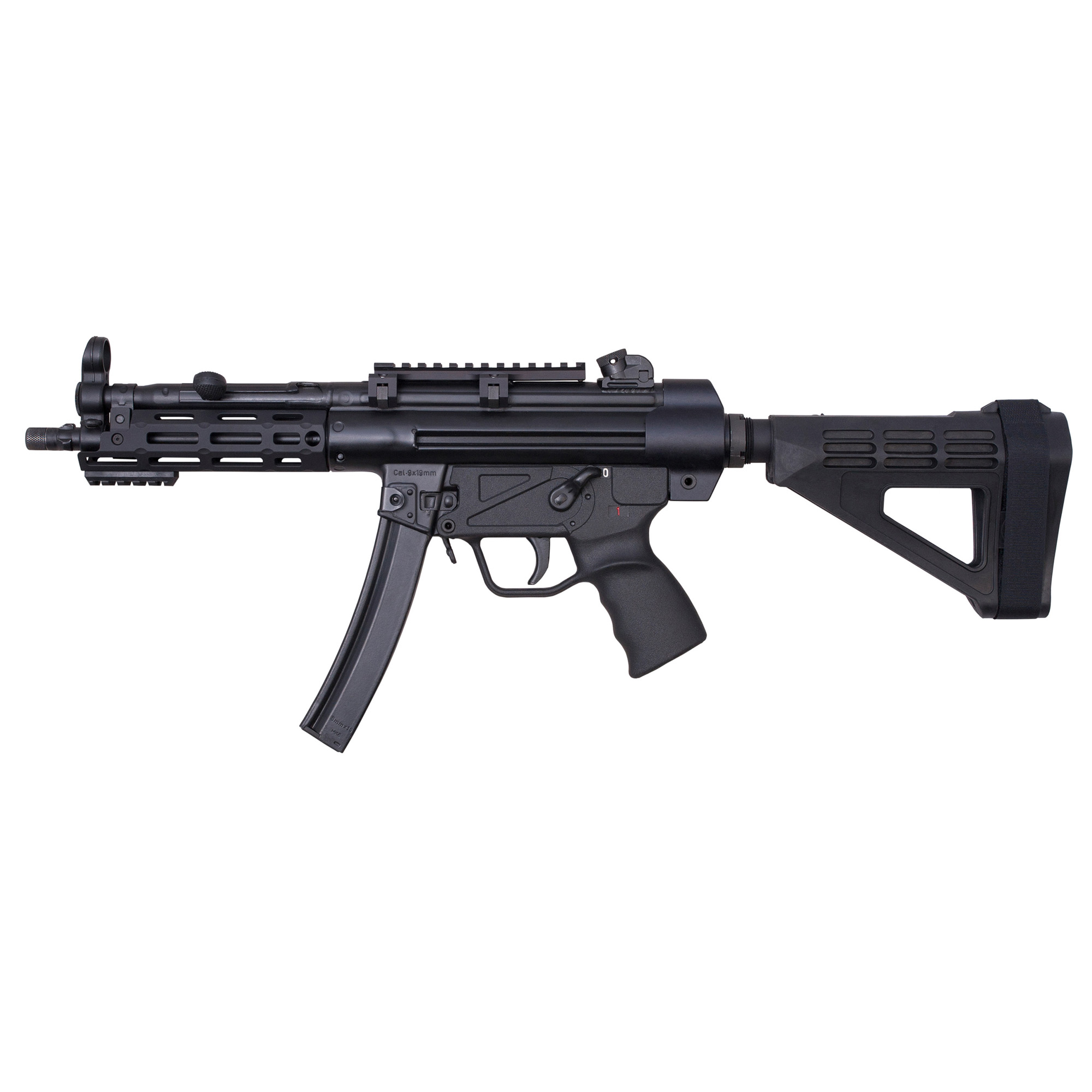"""The Z-5RS Pistolman is enhanced with an M-LOK handguard"""" a lower-profile Picatinny optics rail and an AR-style fixed pistol brace. It is covered by a five-year warranty"""" and ships fully assembled in a 36-inch Plano All Weather Rifle Case. Included as accessories are the receiver end cap"""" three magazines"""" a military-style sling"""" two extra takedown pins"""" a cleaning kit and a user manual."""