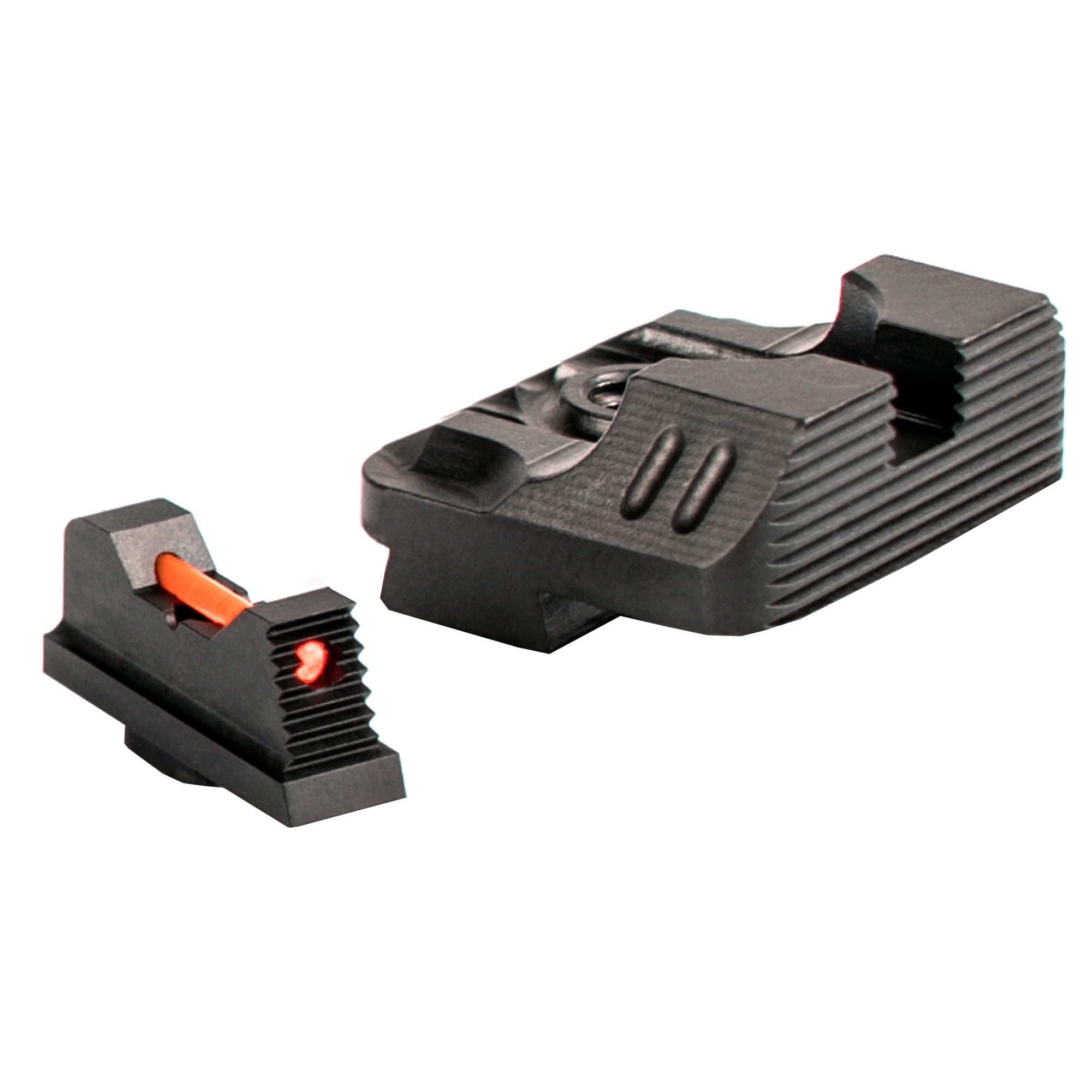 These fiber optic sight sets are an inexpensive addition that a Glock owner can make to their firearm. They have the highest resolution and greatest ease of acquisition. The higher visibility will allow you to keep your sights on target.