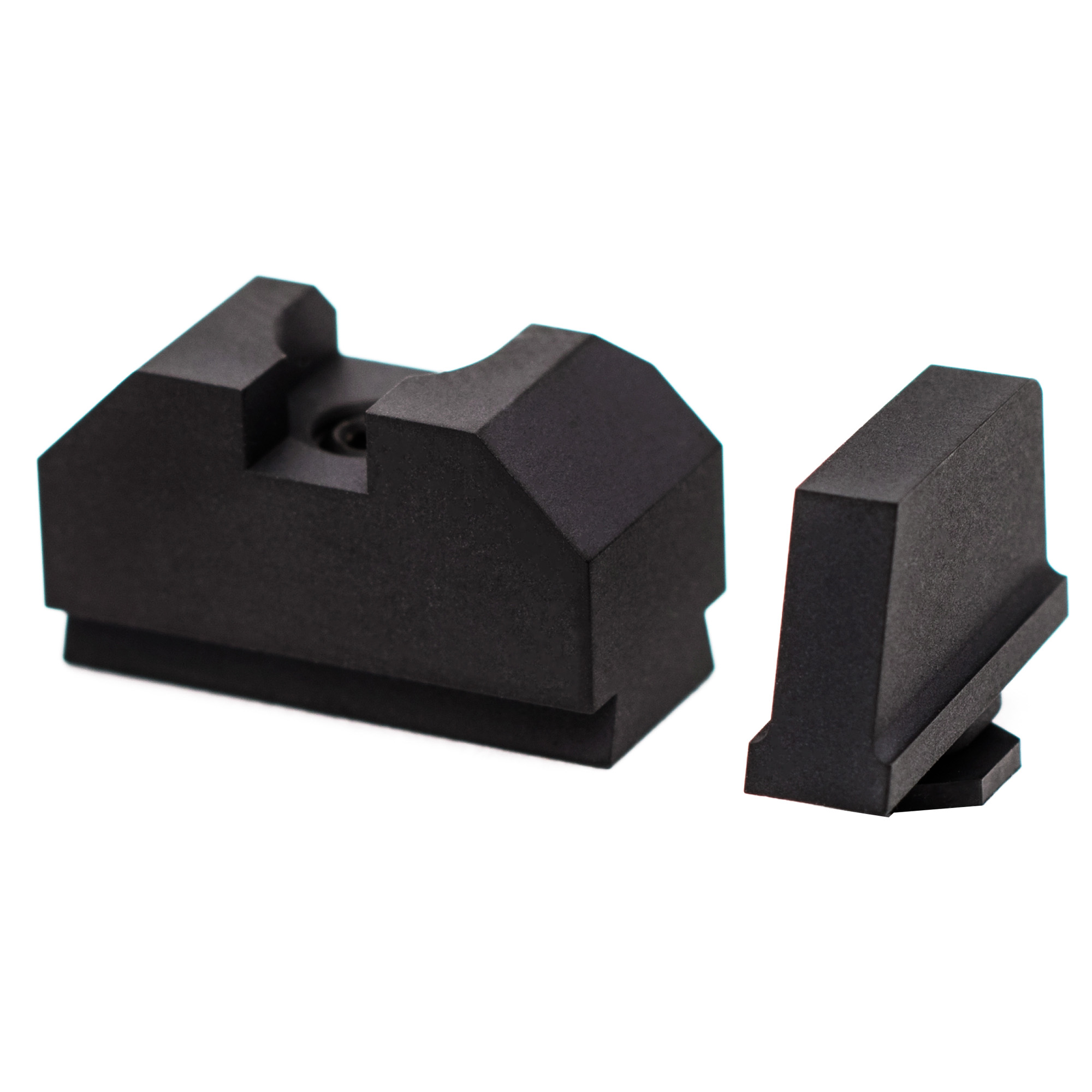 """ZEV backup iron sights (BUIS) are designed to be used with one of the many mini red dot sights available on the market - such as Trijicons RMR. Because of this"""" ZEV Co-Witness Sight Sets are an excellent addition for either absolute or 1/3 co-witness applications. These fiber optic sight sets are an inexpensive addition that Glock owners can make to their firearm."""