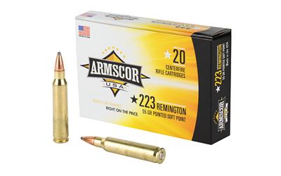 ARMSCOR 223REM 55GR PSP 20/1000