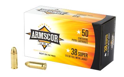 ARMSCOR 38SUPER 125GR FMJ 50/1000