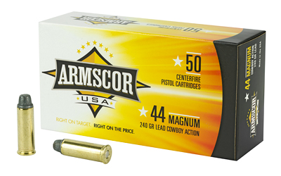 ARMSCOR 44MAG 240GR SWC 50/400