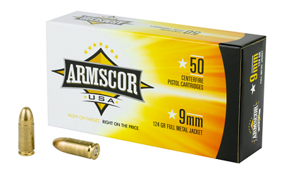ARMSCOR 9MM 124GR FMJ 50/1000