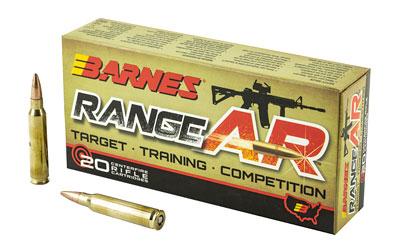 BARNES RANGE AR 556NATO 52GR 20/200