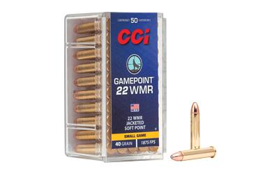 CCI 22WMR 40GR GAMEPOINT 50/2000