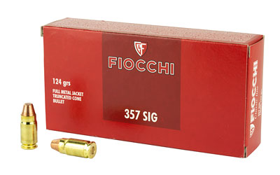 FIOCCHI 357SIG 124GR FMJ 50/1000
