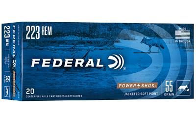 FED PWRSHK 223REM 55GR SP 20/200