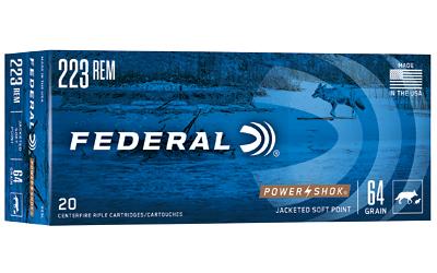 FED PWRSHK 223REM 64 GR SP 20/200
