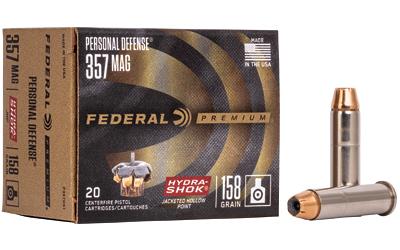 FED HYDRA-SHOK 357MAG 158GR 20/500