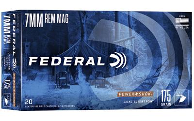 FED PWRSHK 7MMREM 175GR SP 20/200