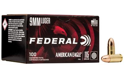 FED AM EAGLE 9MM 115GR FMJ 100/500