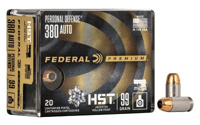FED PRM HST 380ACP 99GR JHP 20/200