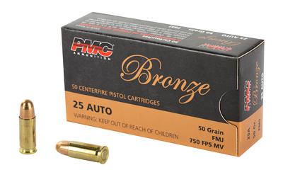PMC BRNZ 25ACP 50GR FMJ 50/1000