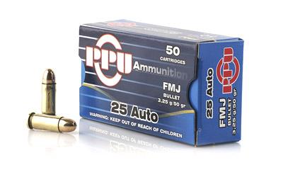PPU 25ACP FMJ 50GR 50/1000