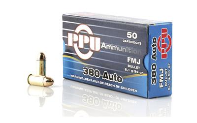 PPU 380ACP FMJ 94GR 50/1000
