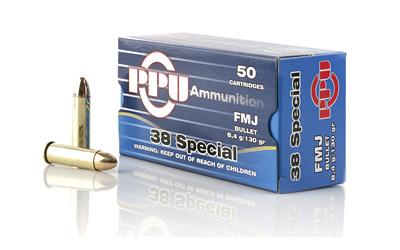 PPU 38SPL FMJ 130GR 50/500