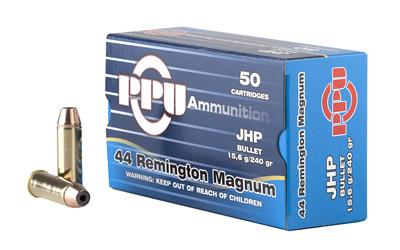 PPU 44MAG JHP 240GR 50/500