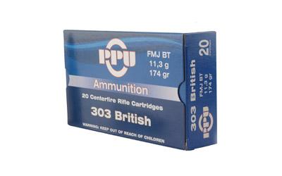 PPU 303 BRITISH FMJ 174GR 20/500