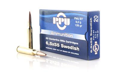 PPU 6.5X55 SWEDISH FMJ 139GR 20/500