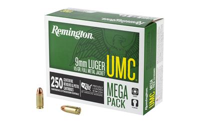 REM UMC MP 9MM 115GR FMJ 250/1000