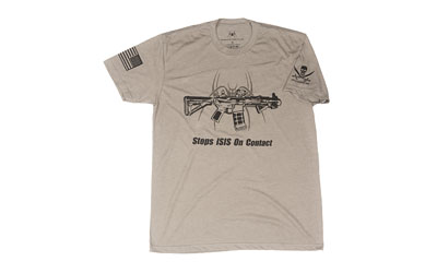 SPIKE'S TSHIRT STOPS ISIS GRAY XL