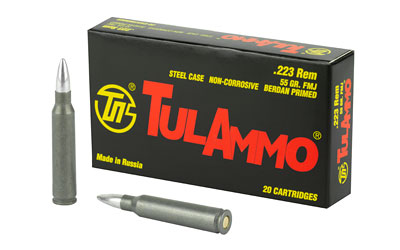 TULA 223REM 55GR FMJ NC 20/1000