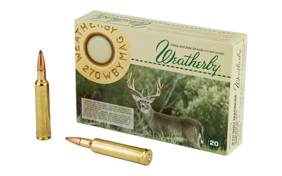 WBY AMMO 270WBY 130GR SPIRE 20/200